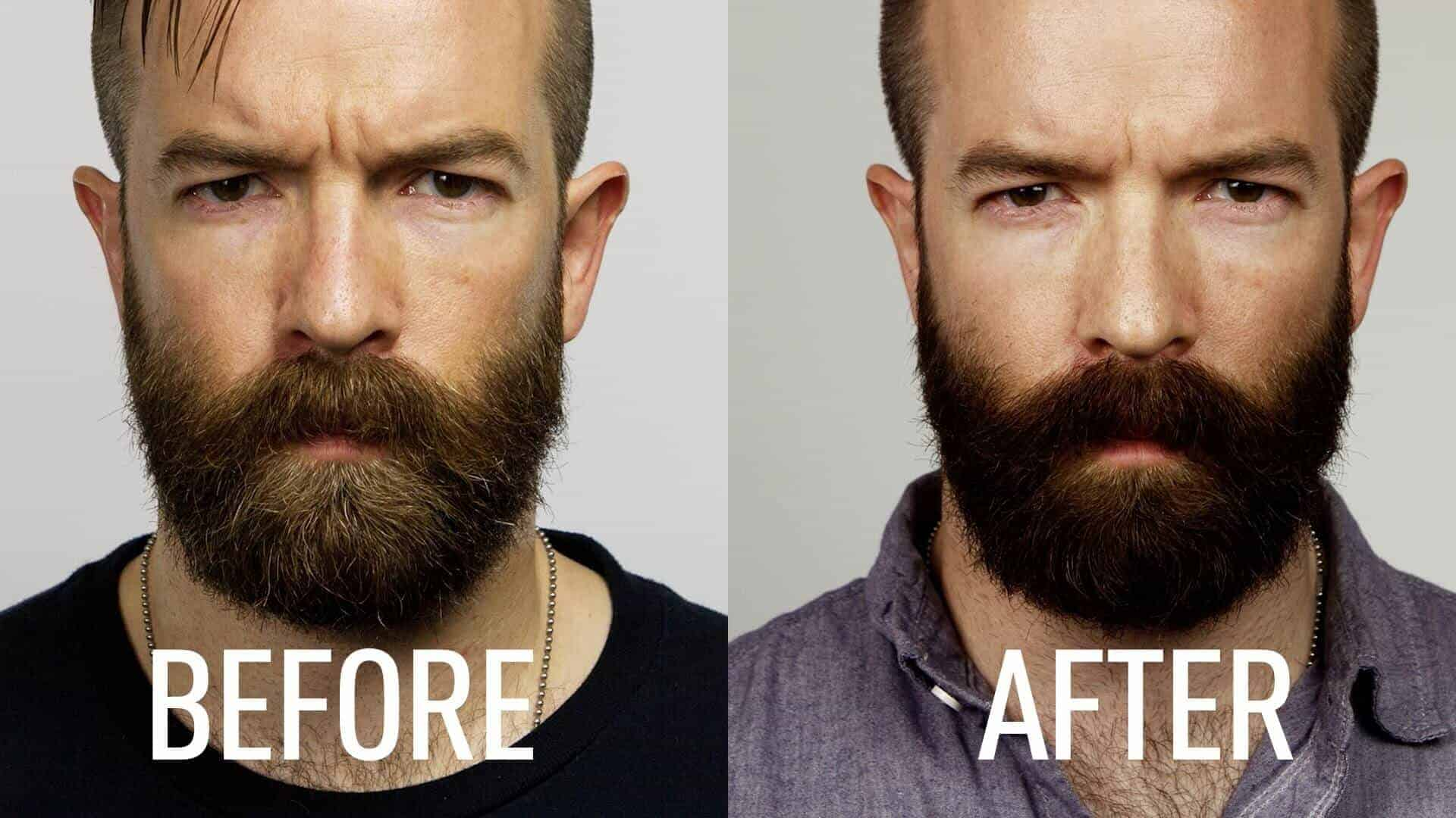 beard dye before and after 1