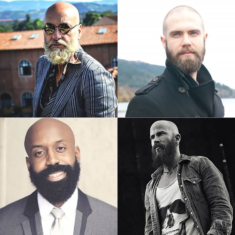 how to wear a beard with a shaved head 1