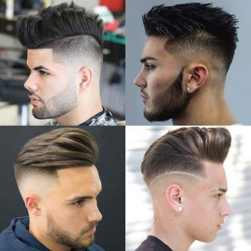 mens short hairstyles with beard 1