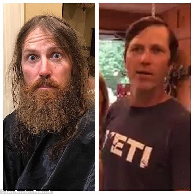 jase robertson with no beard