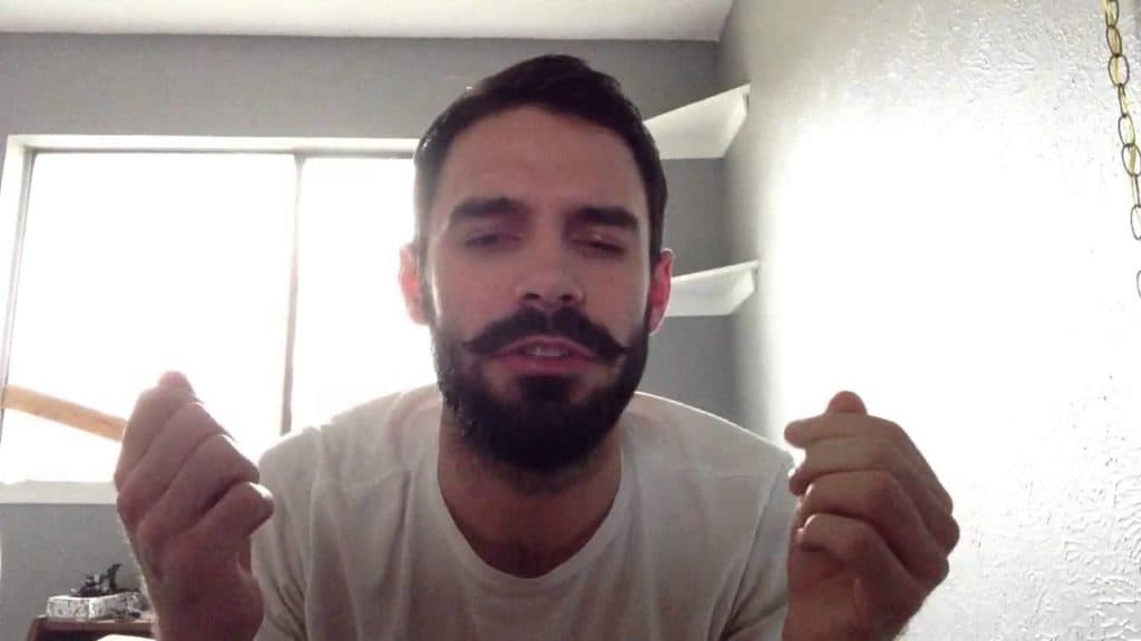 beard with curled mustache 1