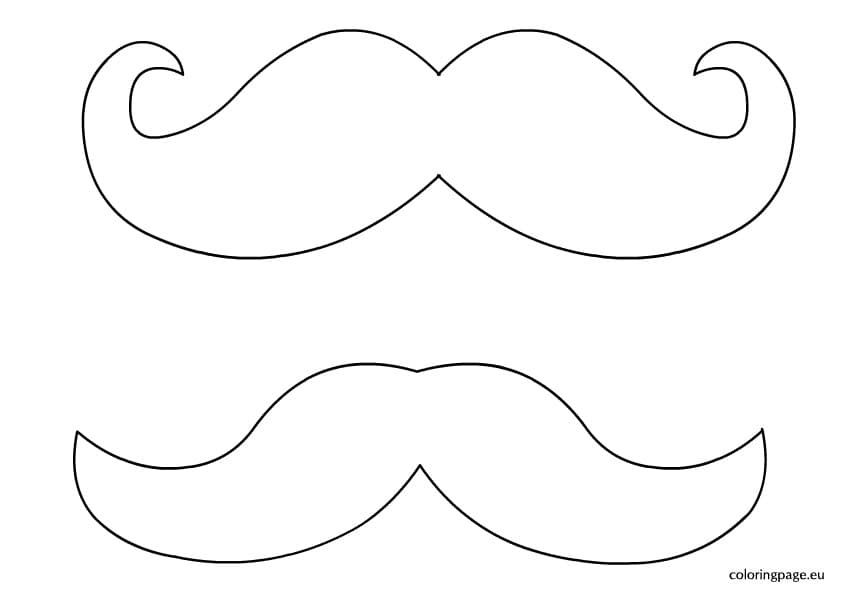 coloring beard and mustache 1