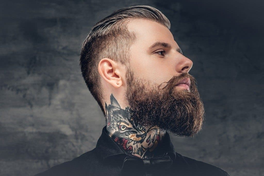how to trim your mustache while growing a beard 1