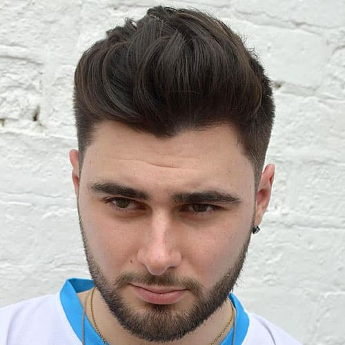 Haircut For Round Face Male Messy Spiky Hair 2