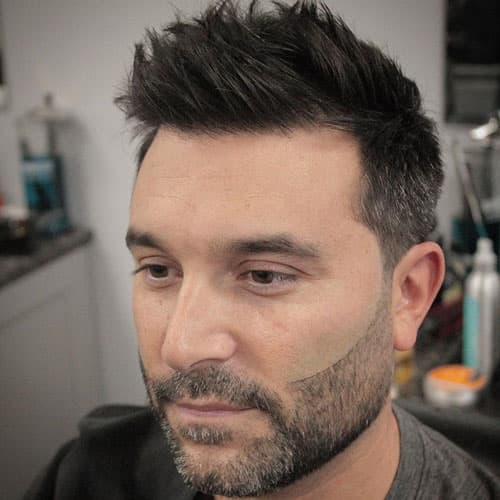 Haircut For Round Face Male Messy Spiky Hair