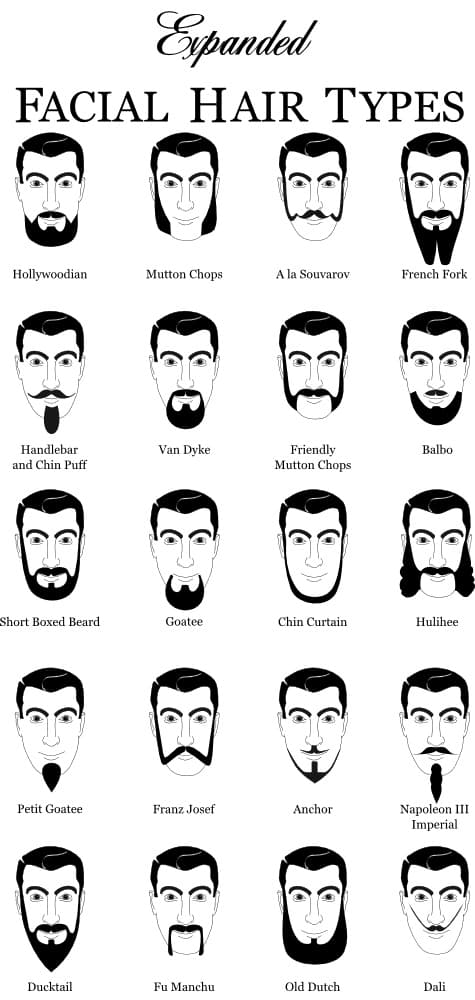 different mens facial hair styles 1
