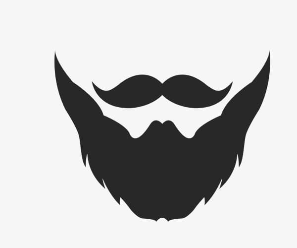 Beard and mustache logo