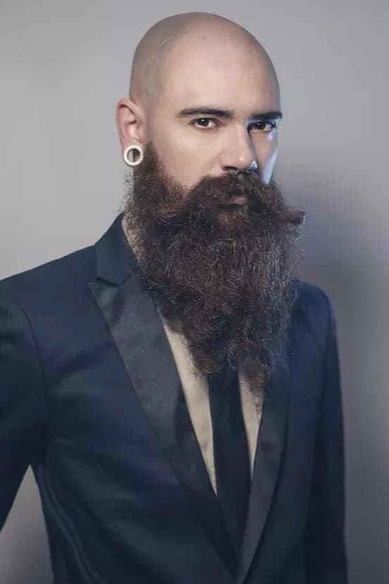 bald head and beard photo - 1