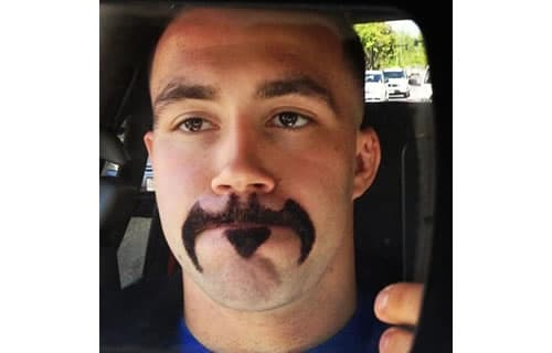 batman mustache and beard photo - 1