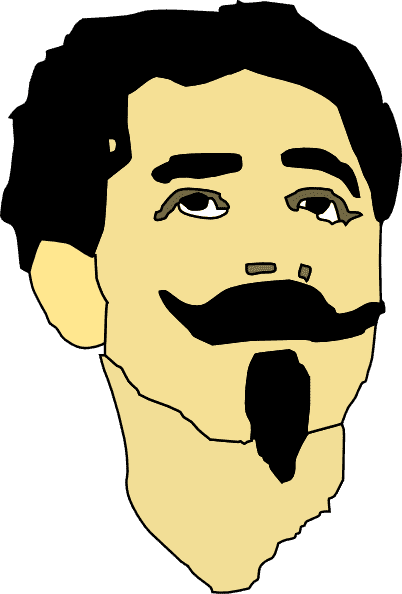 beard and mustache coloring photo - 1