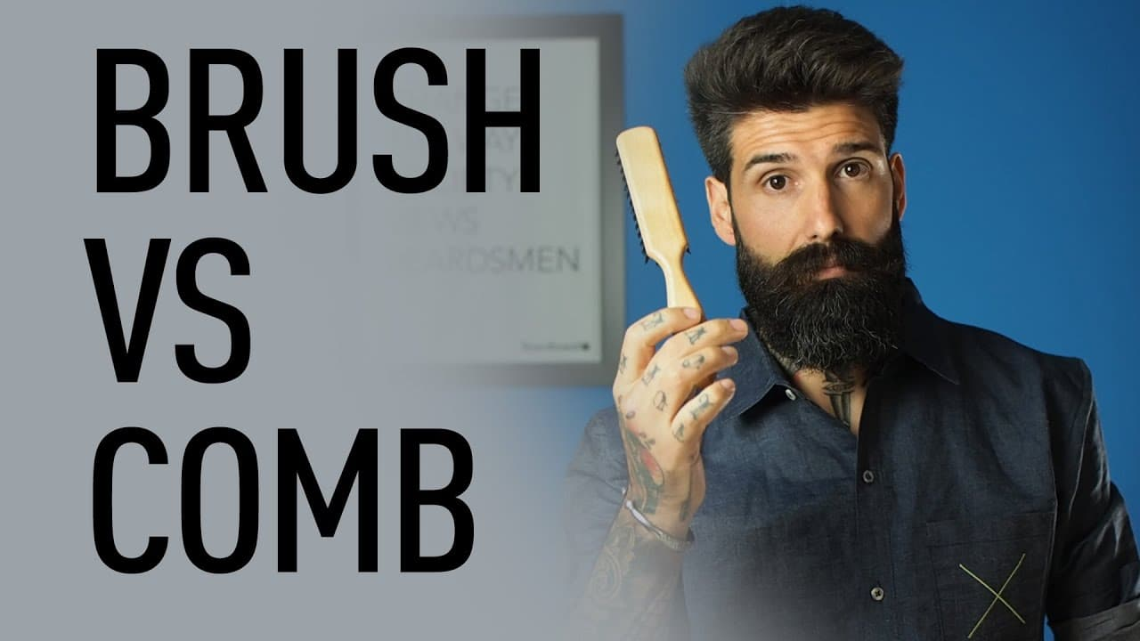 beard comb vs brush photo - 1