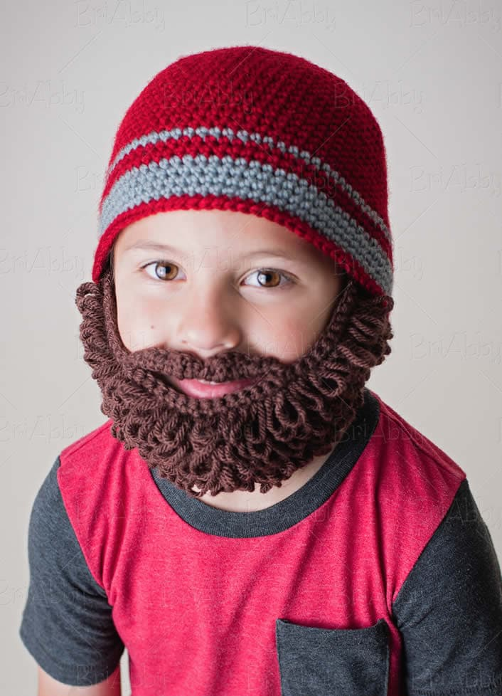 beard hat crochet pattern photo - 1