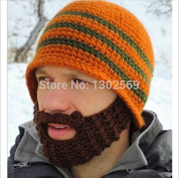 beard hat pattern knit photo - 1