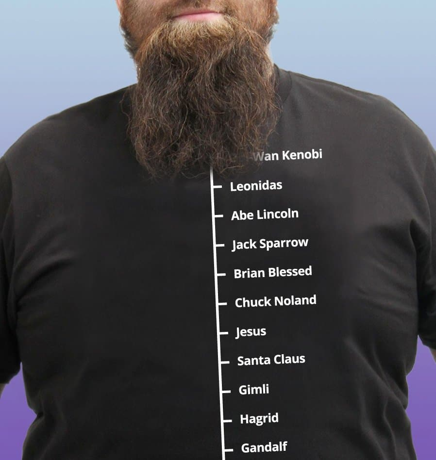 beard length t shirt photo - 1