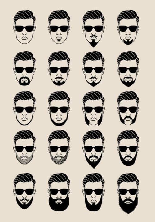 beard man cartoon photo - 1