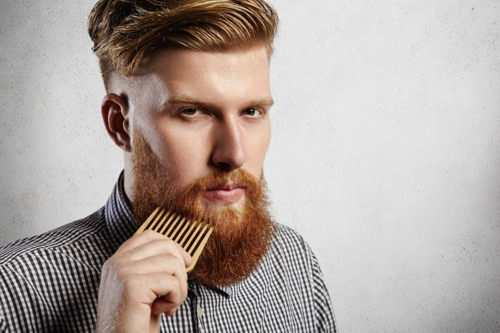 beard straightening comb photo - 1