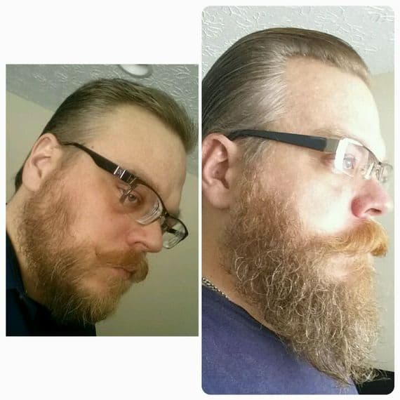 beard wax before and after photo - 1