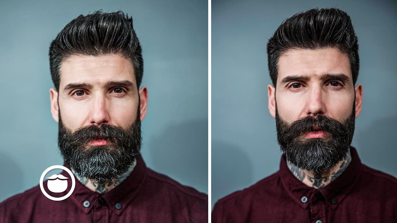 beard with detached mustache photo - 1