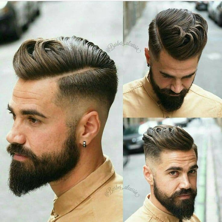 best hairstyle with beard photo - 1