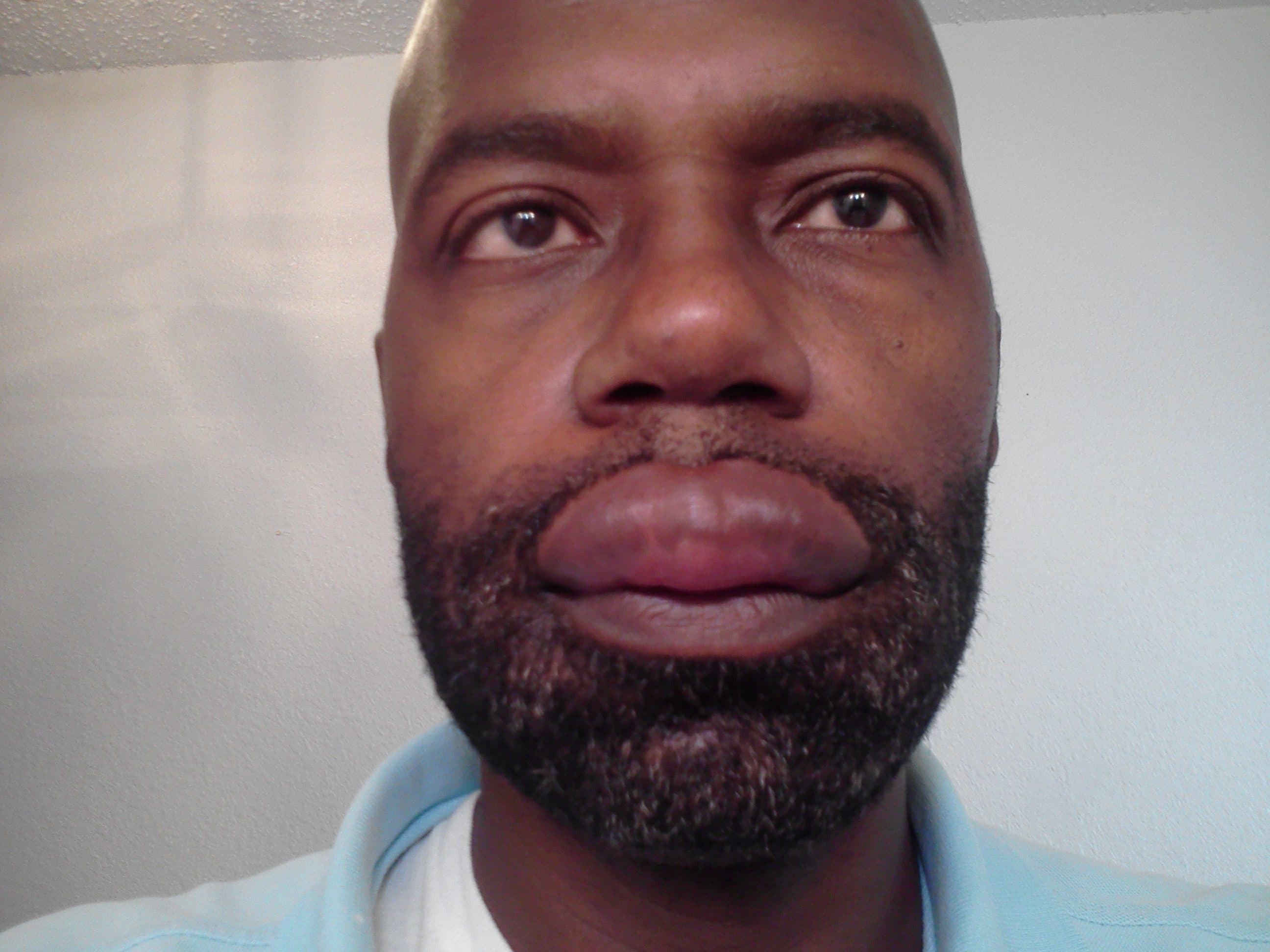 black men beard dye photo - 1