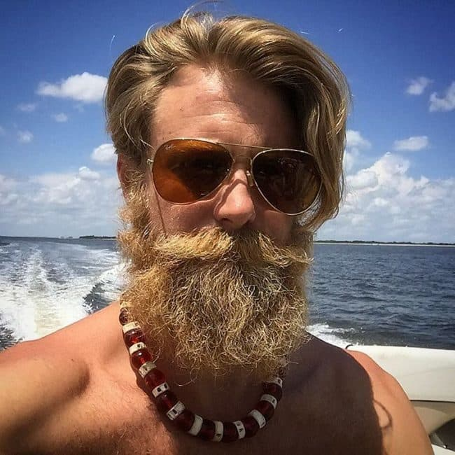 blonde mustache brown beard photo - 1