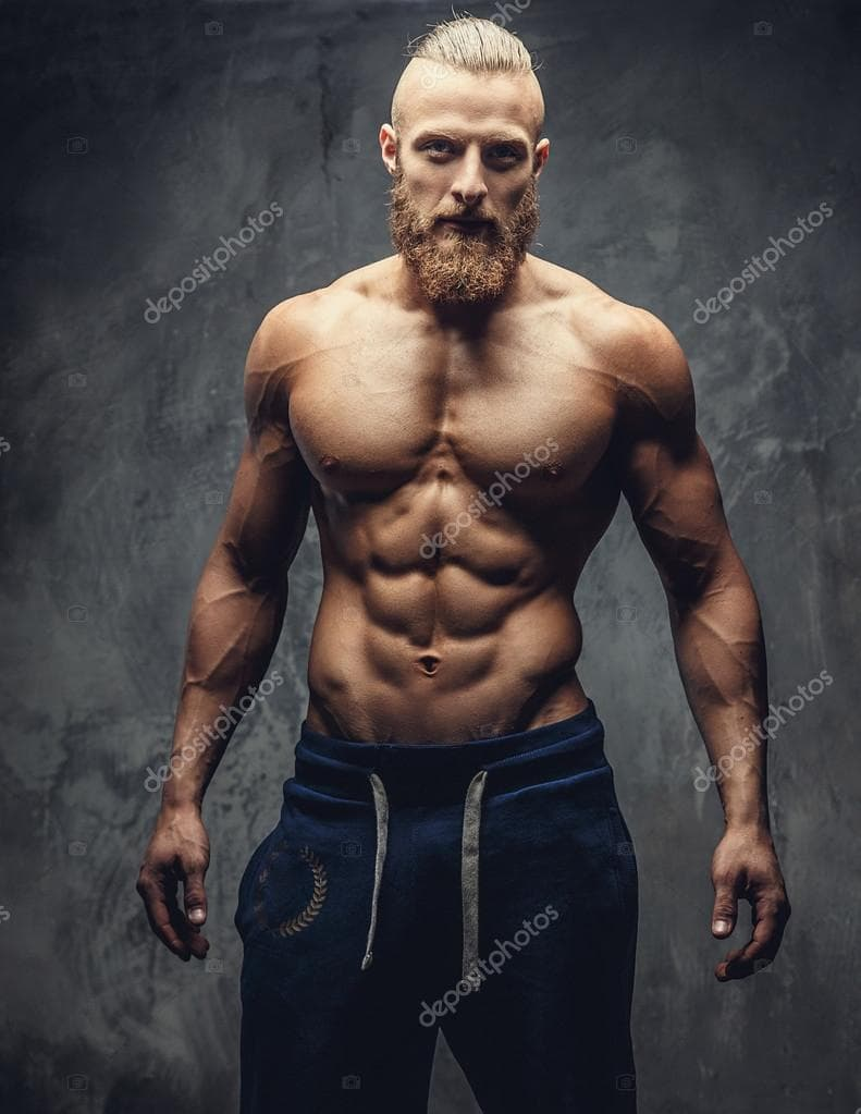 bodybuilder with beard photo - 1