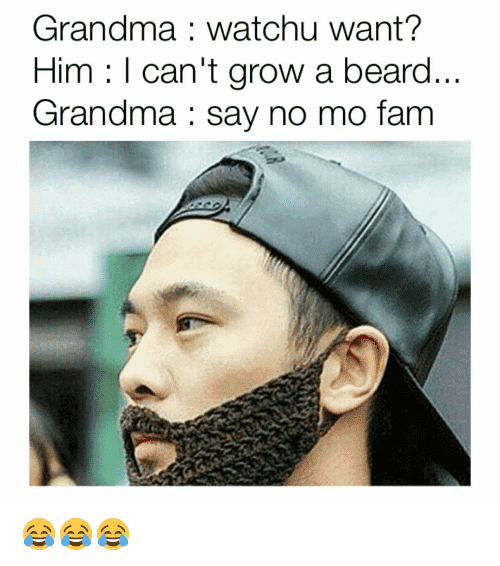 cant grow a beard meme photo - 1