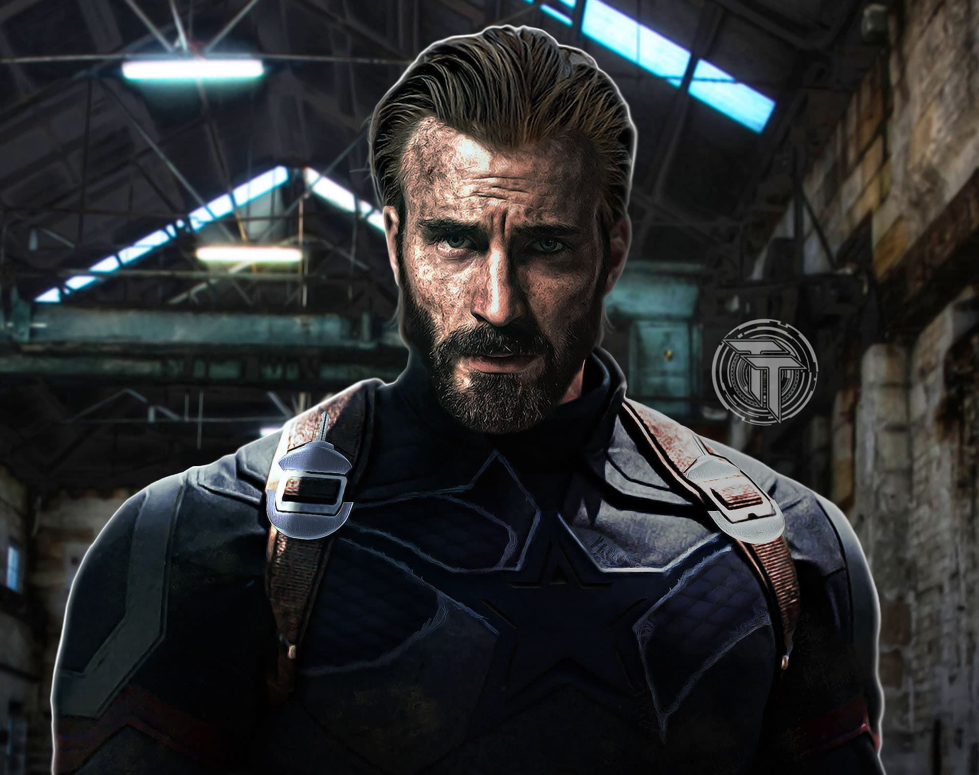 captain america beard infinity war photo - 1