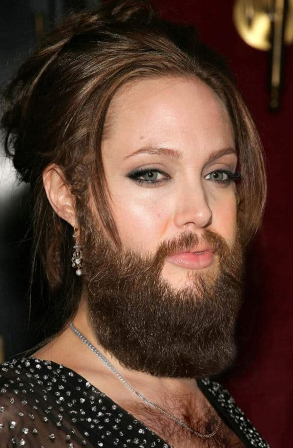 girls beard photo - 1