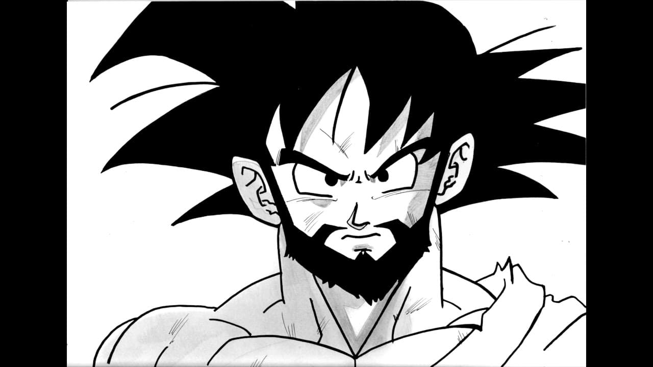 goku with a beard photo - 1