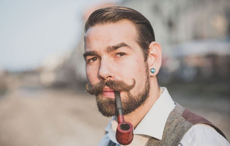 handlebar mustache and beard classic photo - 1