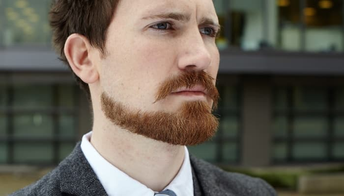 handlebar mustache with beard photo - 1