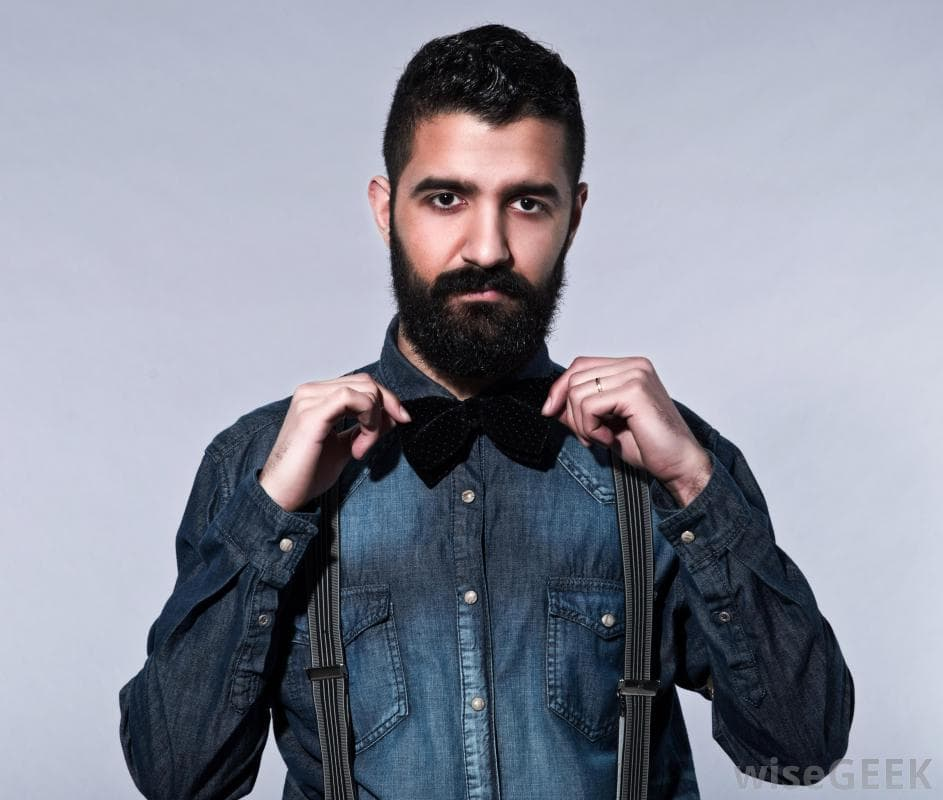 hipster beard and mustache photo - 1
