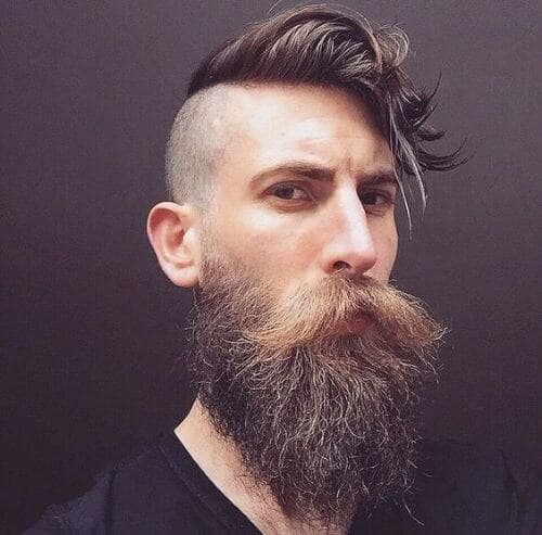 hipster haircut with beard photo - 1