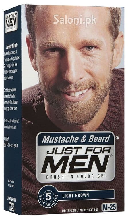 just for men brush-in color gel for mustache & beard photo - 1
