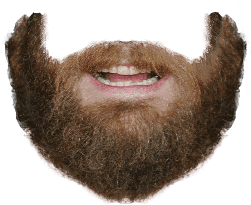 just for men mustache and beard real black photo - 1