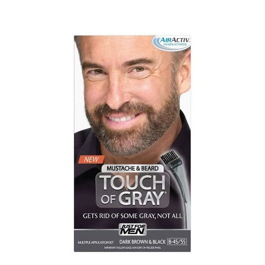just for men touch of gray mustache & beard photo - 1