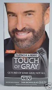 just for men touch of gray mustache and beard photo - 1