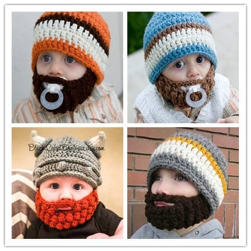 kids beard hat photo - 1