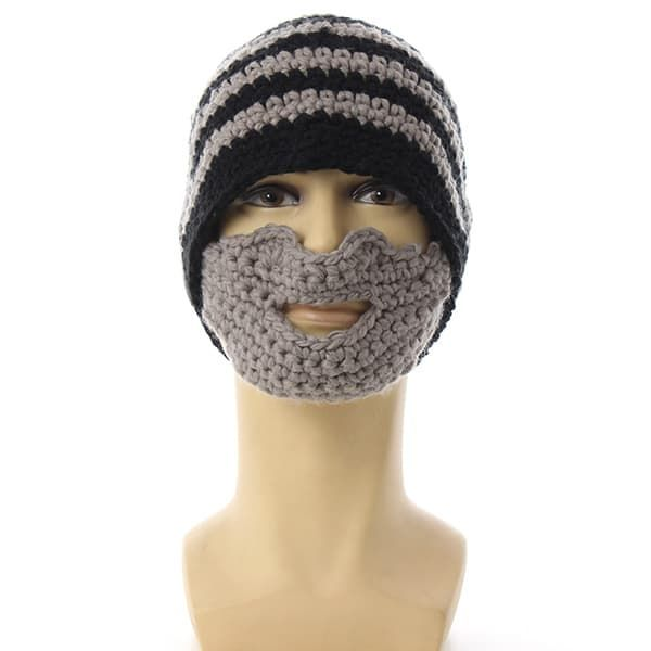 knit beard hat photo - 1