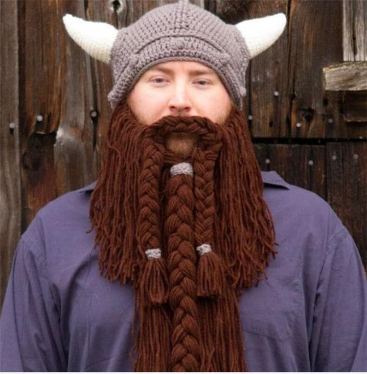 knitted beard and mustache hats photo - 1
