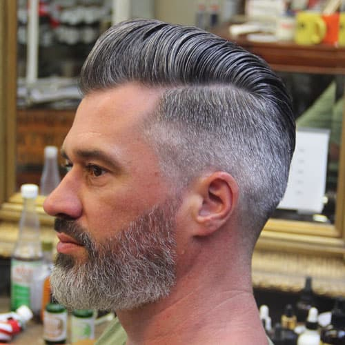 pompadour and beard photo - 1