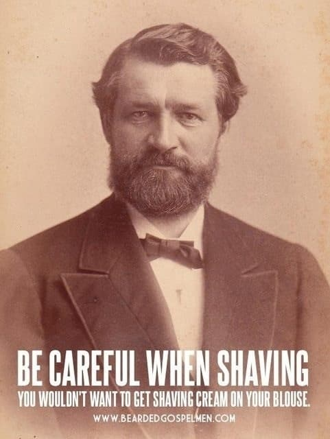 shaved beard meme photo - 1