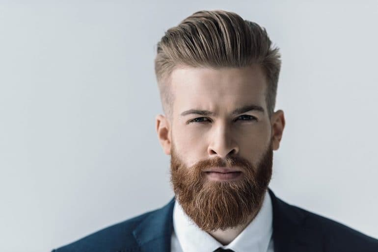 trimming mustache with full beard photo - 1