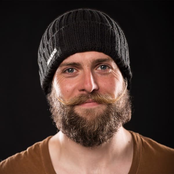 viking knit hat with beard photo - 1