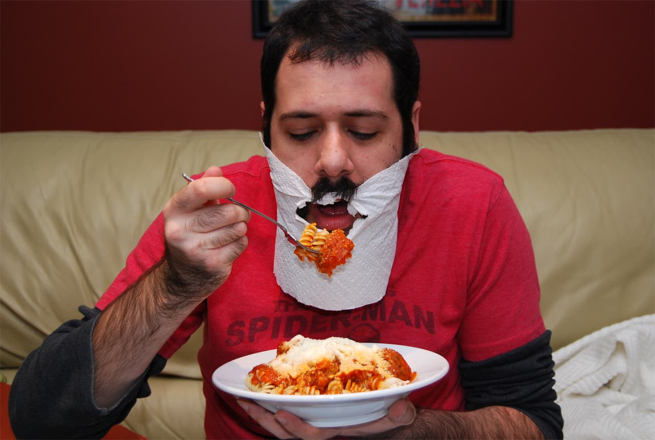 beard bib for eating 1