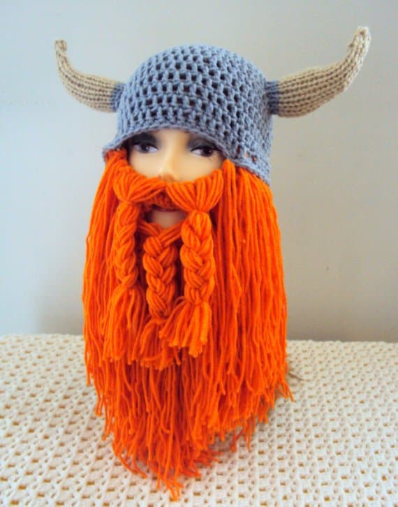 knit hat with beard 1