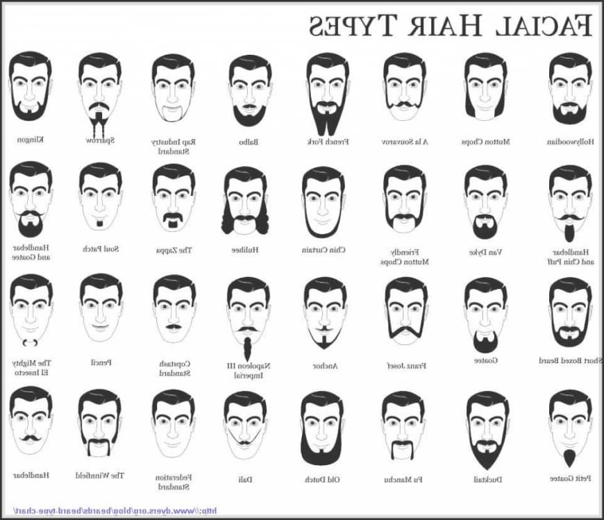 types of facial hair styles 1