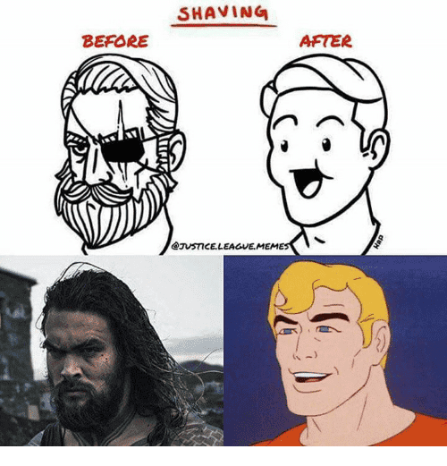 beard shaving meme 1