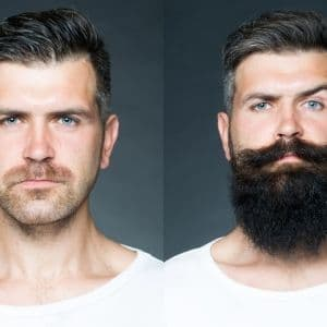 before and after beard oil 1